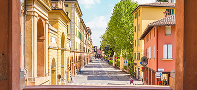 Bologna has one of the most beautiful and best preserved old towns in Europe with many towers from the Middle Ages and approx.