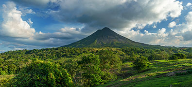 Costa Rica is located between the Pacific and Caribbean Seas.