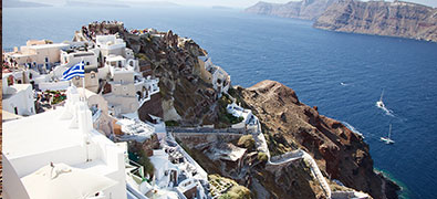 Santorini is a symbol. On the one hand for Mediterranean lightness