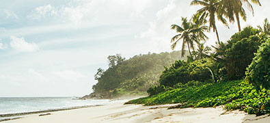 The Seychelles are famous for their beautiful beaches and crystal clear waters.