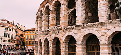 Verona is a city in the north of Italy of Veneto with a medieval old town.